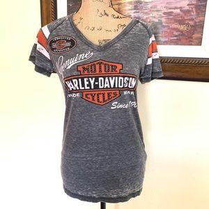 Harley-Davidson Burnout v neck T-shirt